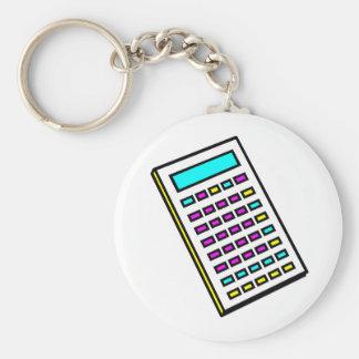 CMYK Calculator Retro Graphic Basic Round Button Key Ring