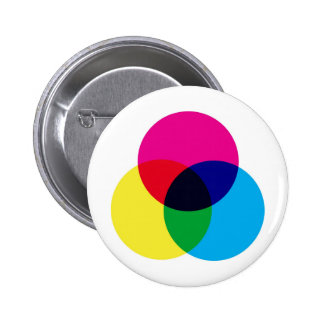 CMYK Color Model 6 Cm Round Badge