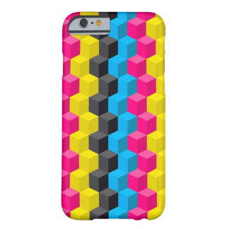 Cmyk cubes barely there iPhone 6 case