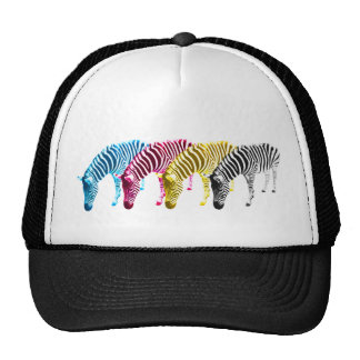 CMYK Drinking zebras Cap