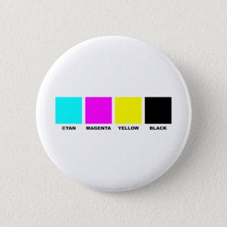 CMYK Four Color Process Model 6 Cm Round Badge