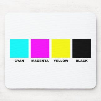 CMYK Four Color Process Model Mouse Pad