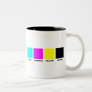 CMYK Four Color Process Model Two-Tone Coffee Mug