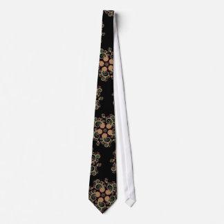 CMYK Fractal Star Pattern Tie