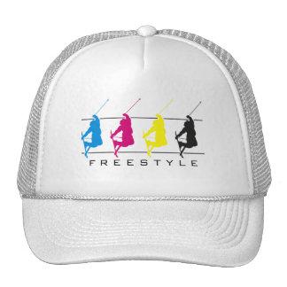 CMYK - Freestyle Skier Silhouette Hat