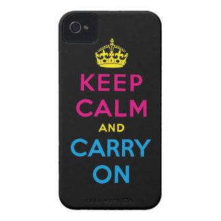 CMYK keep calm and carry on Case-Mate iPhone 4 Case