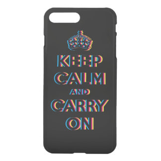 CMYK keep calm and carry on iPhone 7 Plus Case