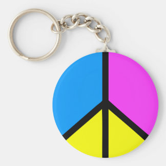 CMYK Peace Sign Key Ring