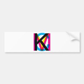 CMYK pile Bumper Sticker