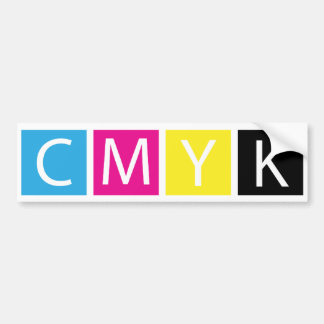 CMYK Pre-Press Colors Bumper Sticker