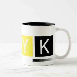 CMYK Pre-Press Colors Two-Tone Coffee Mug
