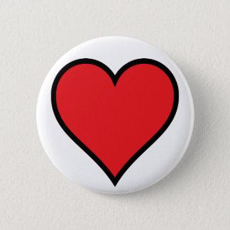 CMYK Red Heart Button