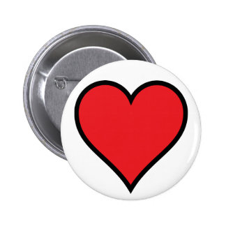 CMYK Red Heart Button