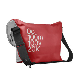 CMYK Red Messenger Bags