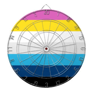 CMYK Stripes Dartboard
