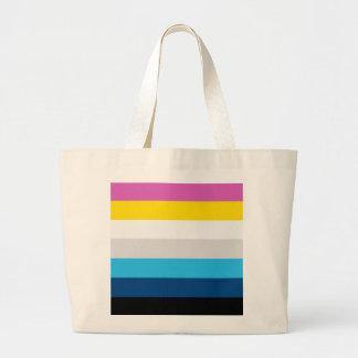 CMYK Stripes Large Tote Bag