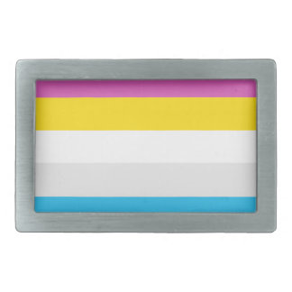 CMYK Stripes Rectangular Belt Buckles