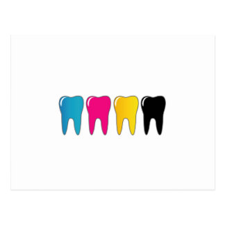 CMYK tooth Postcard