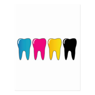 CMYK tooth Postcard