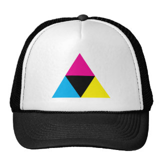 CMYK Triangle Graphic Designer Print Love Cap