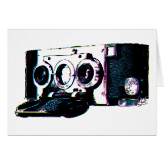 CMYK Vintage Camera Picture Pop Art Card