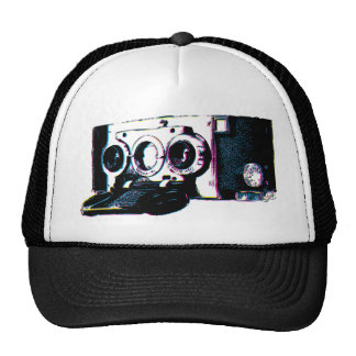 CMYK Vintage Camera Picture Pop Art Mesh Hat