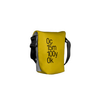 CMYK Yellow Small Messenger Bags