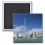 CN Tower and Skydome in Toronto, Ontario, Square Magnet