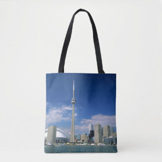 CN Tower and Skydome in Toronto, Ontario Tote Bag