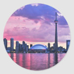 CN Tower : View from Centre Island Toronto Round Sticker