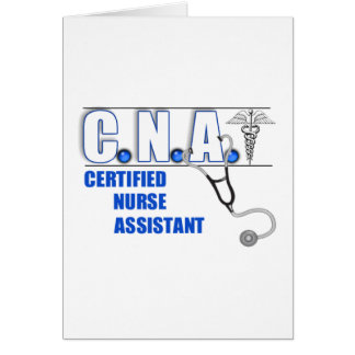 CNA Certified Nurse Assistant with Stethescope Card