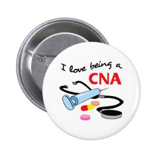 CNA CERTIFIED NURSES ASSISTANT 6 CM ROUND BADGE