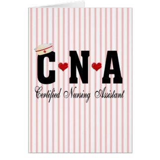 CNA Certified Nursing Assistant Greeting Card