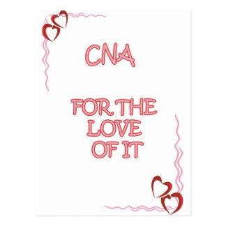 CNA IN IT FOR THE LOVE POSTCARD