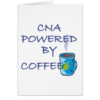 CNA POWERED BY COFFEE GREETING CARD