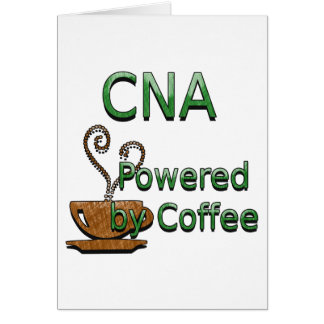 CNA Powered by Coffee Greeting Card