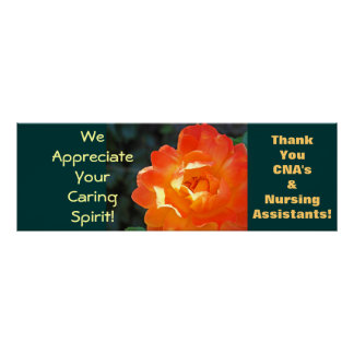 CNA s art posters Rose Certified Nursing Assistant
