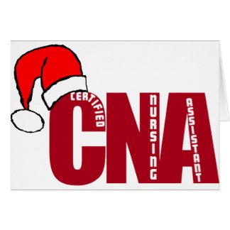 CNA SANTA - CERTIFIED NURSING ASSISTANT GREETING CARD