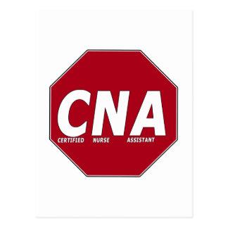 CNA STOP SIGN - CERTIFIED NURSE ASSISTANT POSTCARDS