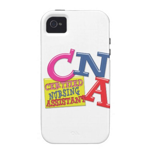 CNA WHIMSICAL LETTERS  CERTIFIED NURSING ASSISTANT CASE FOR THE iPhone 4