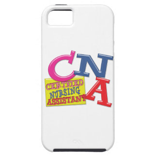 CNA WHIMSICAL LETTERS  CERTIFIED NURSING ASSISTANT iPhone 5 COVERS