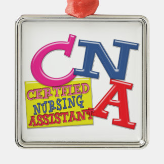 CNA WHIMSICAL LETTERS  CERTIFIED NURSING ASSISTANT CHRISTMAS ORNAMENT