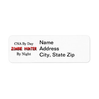 CNA/Zombie Hunter Return Address Label