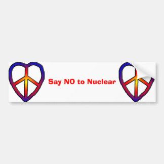 CND Heart copy, CND Heart copy, Say NO to Nuclear Bumper Sticker