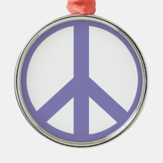 CND Peace Sign Silver-Colored Round Decoration