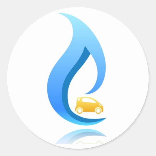 CNG Car Round Sticker