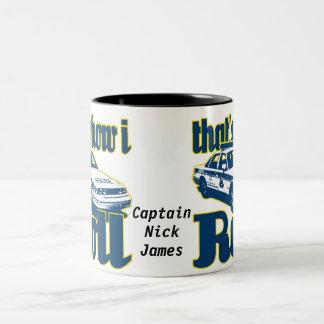 CNJ Thats How I Roll Police Two-Tone Coffee Mug