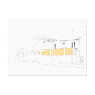 Cnr. Chiappini Street, Cape Town. Yellow Wall. Canvas Print