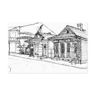 Cnr. St.Phillips & Burgundy St, New Orleans. Canvas Print