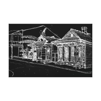Cnr. St.Phillips & Burgundy St, New Orleans. Night Canvas Print